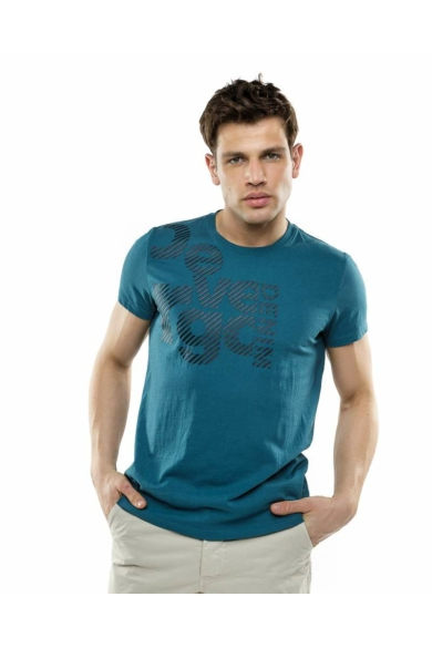 Devergo férfi zöld fekete feliratos póló